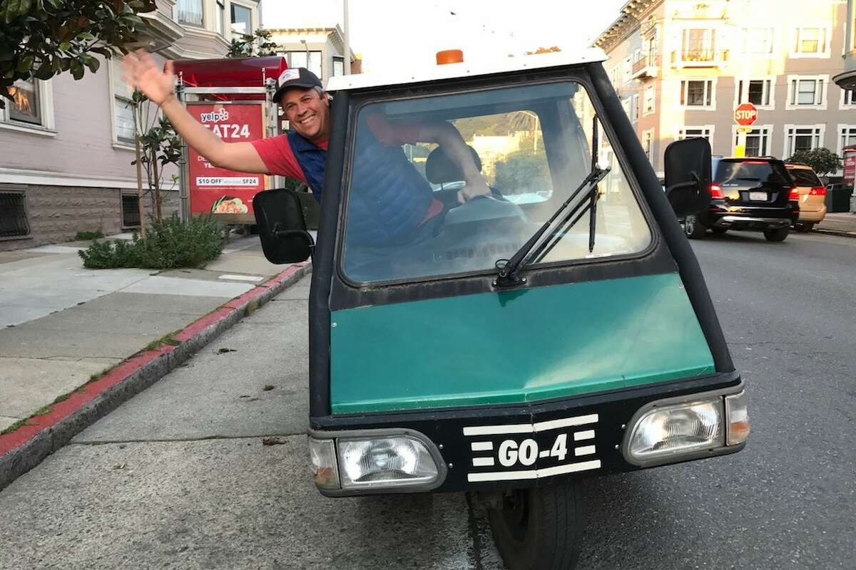 Jim Angelus of Bacon Bacon in his old Go-4 Interceptor.