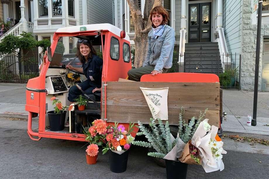Elise Manlove's mobile flower business, Her Urban Herbs. Photo: Elise Manlove