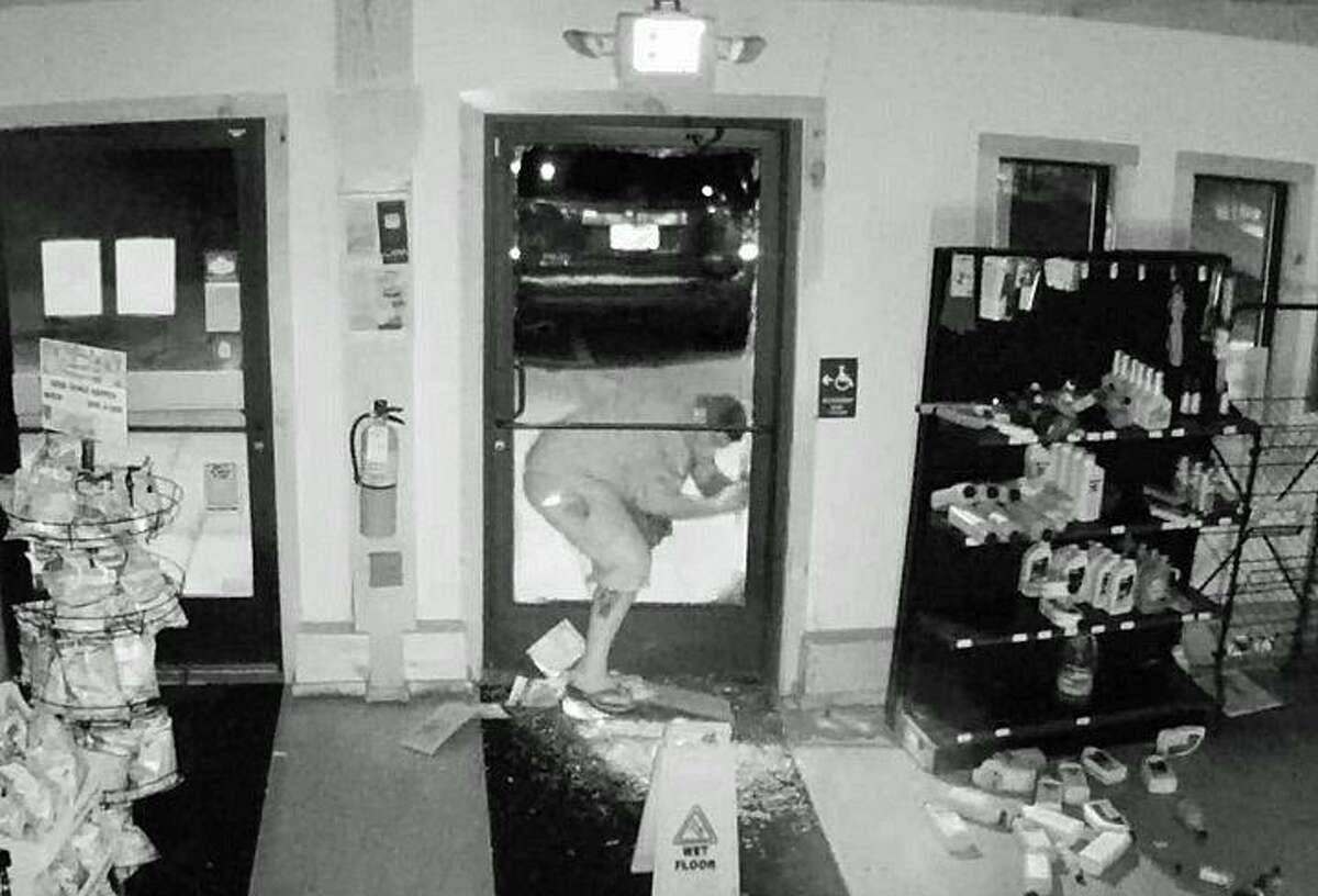 State Police are asking the public's help in identifying two men who backed a Honda Pilot into the front door of a business and stole only cigarettes. It happened at 2:40 a.m. on Wednesday, Sept. 16, 2020 at the Village Market Shell gas station at 59 Torrington Road.