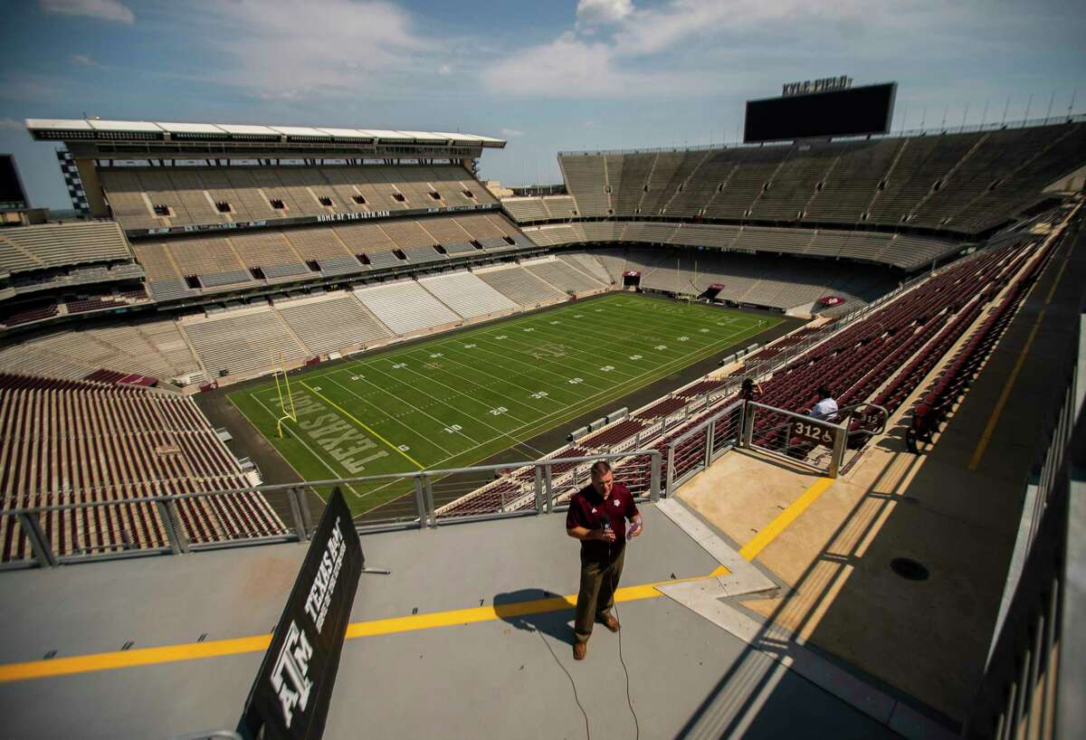 Kyle Field is being prepared for the first game of the season, Friday, Sept. 18, 2020, in College Station. The stadium will be at 25% capacity for the Aggies' game against Vanderbilt Sept. 26.