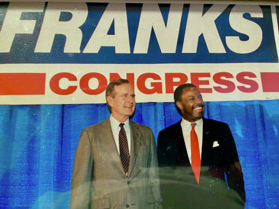 President George H.W. Bush supported Gary Franks run for Congress in Connecticut's 5th District in 1990. Franks became the first Black Republican elected to Congress in nearly 60 years. Photo: /Contributed Photo