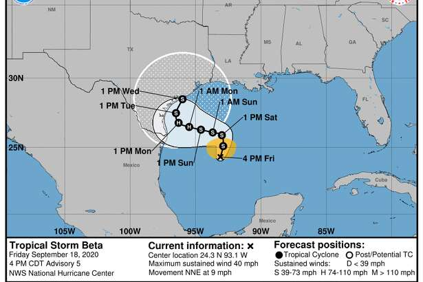 Tropical Storm Beta formed Friday, Sept. 18, 2020.