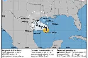 Tropical Storm Beta formed Friday, Sept. 18, 2020.