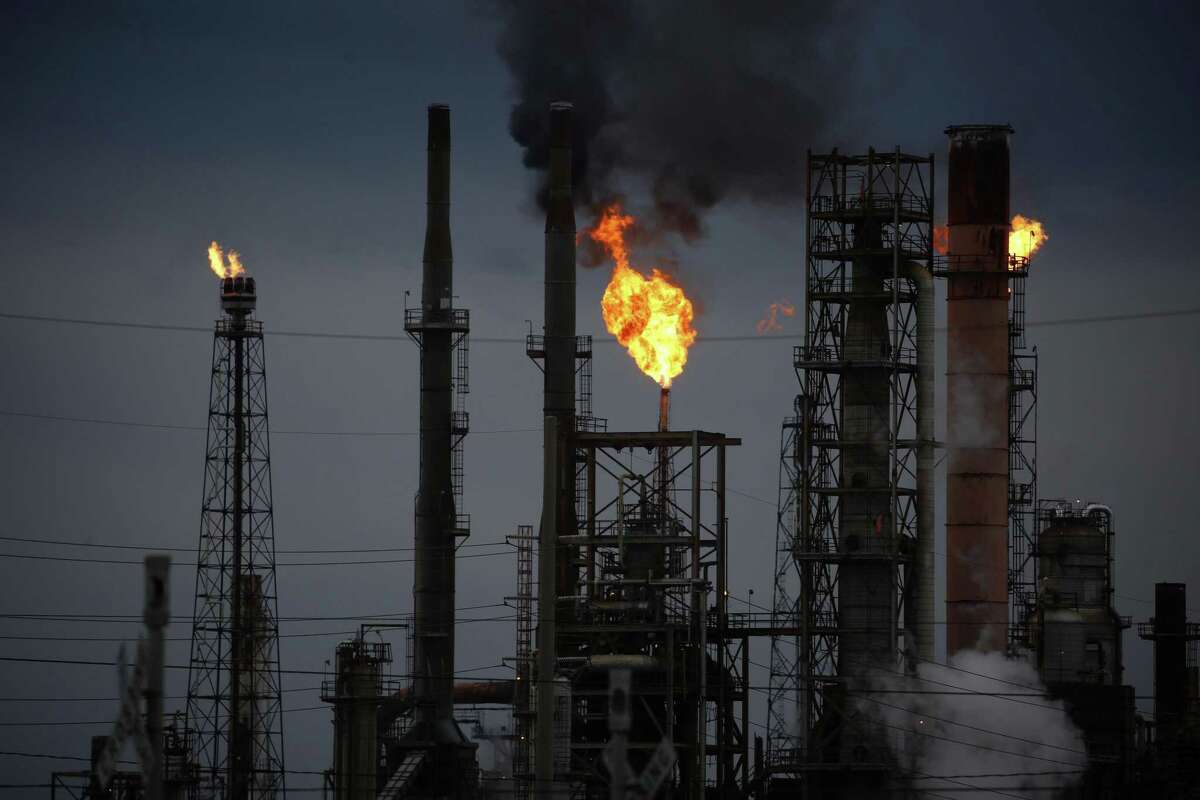 A refinery in Port Arthur. Texas faces many risks with climate change, but it also has many opportunities through renewable energy sources.