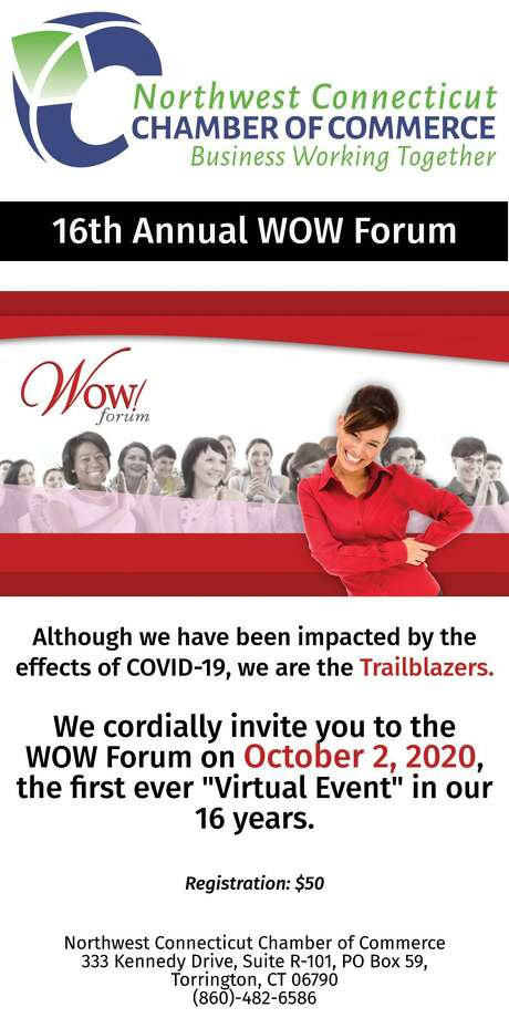 Registration is now open for the Chamber's annual WOW! Forum, set for Oct. 2 in a virtual format. Photo: Chamber Of Commerce / Contributed Photo