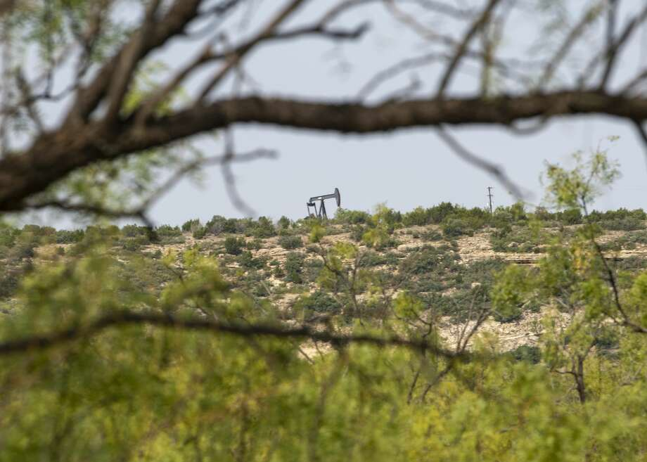 A pump jack on top of a mesa as seen Wednesday, Sept. 16, 2020 along Farm to Market Road 1054 in Borden County. Jacy Lewis/Reporter-Telegram Photo: Jacy Lewis/Reporter-Telegram / MRT