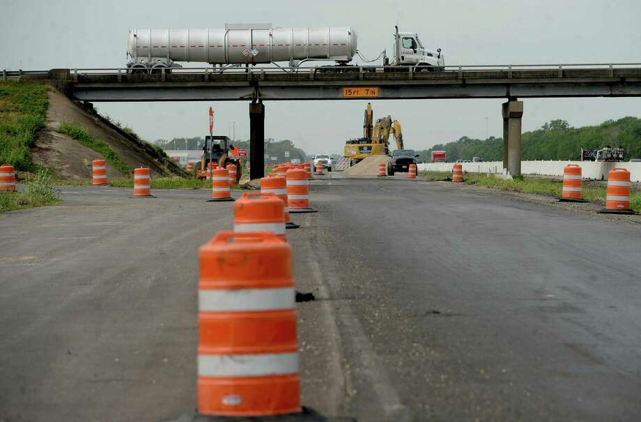 The Smith Road overpass bridge closed Friday afternoon in preparation for demolition this weekend. It is part of the Interstate 10 widening project. The work will necessitate a rare shutdown of interstate traffic - first eastbound, then westbound. Photo taken Friday, September 18, 2020 Kim Brent/The Enterprise Photo: Kim Brent / The Enterprise / BEN