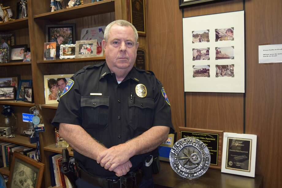 Plainview Police Chief Ken Coughlin will wrap six years in Plainview and his law enforcement career on Friday. Photo: Ellysa Harris/Plainview Herald