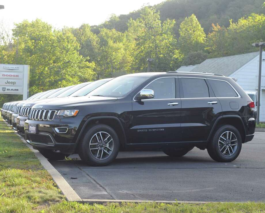 Jeep Grand Cherokees were lined up outside of Pamby Motors on Route 7 in Ridgefield. It's the kind of vehicle the town will be buying as an undercover police car. Photo: Macklin Reid / Hearst Connecticut Media