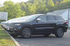 Jeep Grand Cherokees were lined up outside of Pamby Motors on Route 7 in Ridgefield. It's the kind of vehicle the town will be buying as an undercover police car.