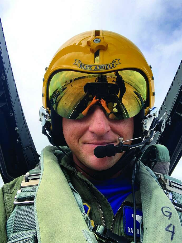 Jacksonville native Darrin Seymour recently flew with the U.S. Navy Blue Angels flight demonstration squadron. Seymour, a major in the Air Force Reserve, currently flies state officials and COVID-19 teams; he is based out of Scott Air Force Base near Belleville. Photo: Courtesy Of Darrin Seymour