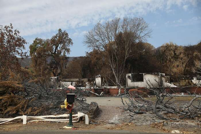 The remains of a home along Pleasants Valley Road is seen on Friday, September 18, 2020 in Vacaville, Calif.