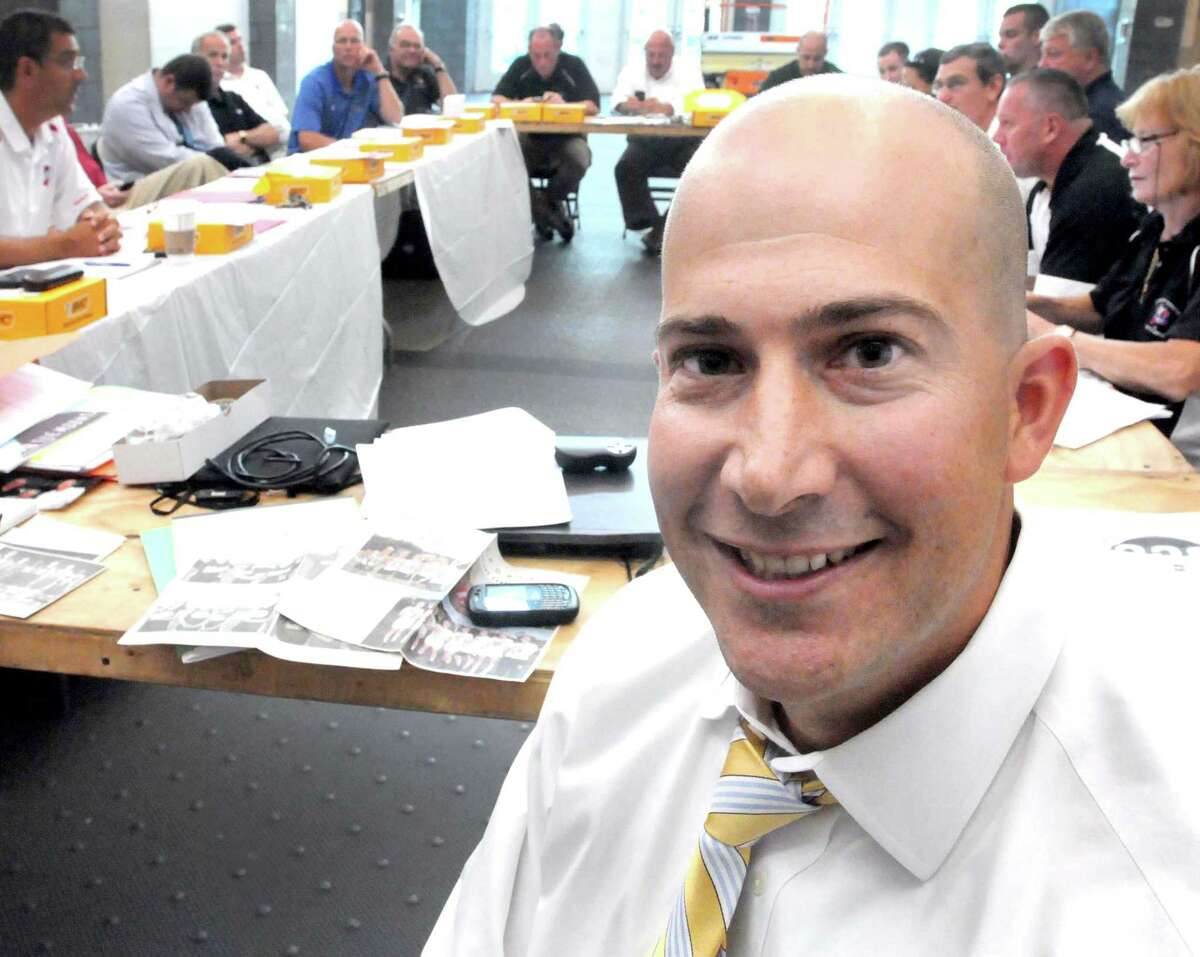 Al Carbone, SCC Commissioner during an SCC conference meeting at the New Haven Athletic Center. Photo by Peter Hvizdak / New Haven Register September 1, 2011 ph2354 # Connecticut