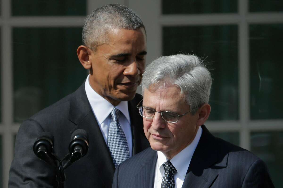 WASHINGTON, DC - MARCH 16: U.S. President Barack Obama introduces Judge Merrick Garland as his nominee to replace the late Supreme Court Justice Antonin Scalia in the Rose Garden at the White House, March 16, 2016 in Washington, DC. Garland currently ser