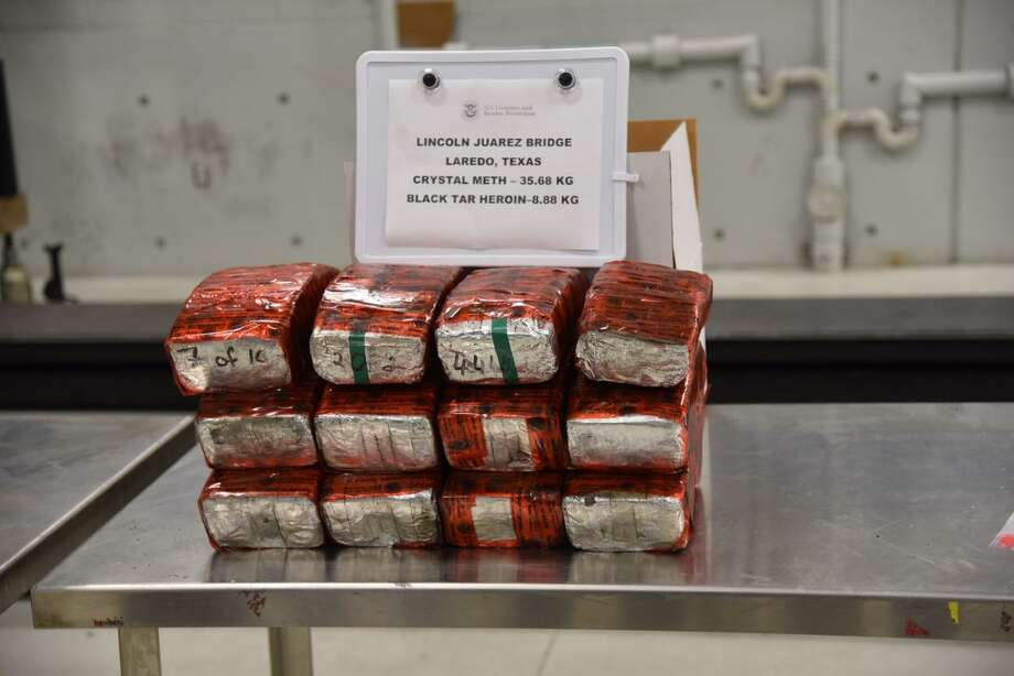 U.S. Customs and Border Protection officers said they seized $2.1 million in black tar heroin and meth. A man was arrested in connection with the case. Homeland Security Investigations is further investigating the case. Photo: Courtesy Photo /U.S. Customs And Border Protection