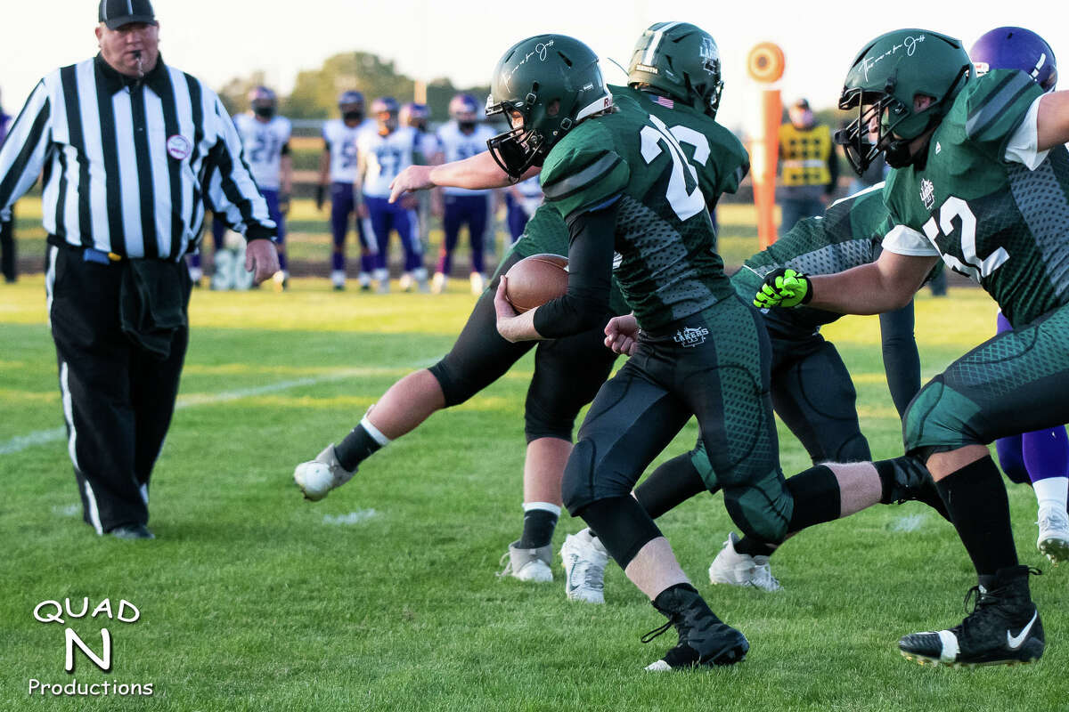 ©Quad N Productions - click on the album name to see all of the images in the album. Prints are available at www.misportsphotos.com Images may not be cropped, edited, or printed in any way. The Elkton-Pigeon-Bay Port Lakers opened the 2020 football season with a 38-7 win over the Caro Tigers on Friday night.