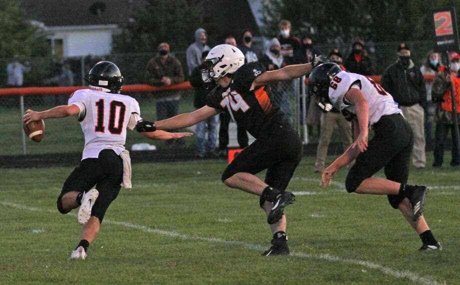 The Harbor Beach Pirates clipped the visiting Ubly Bearcats, 16-14, on Friday night in the opening game of the 2020 season. Photo: Mark Birdsall/Huron Daily Tribune