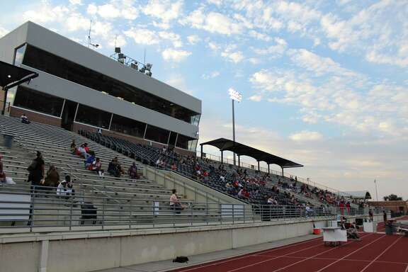 Atascpcota fans were in Turner Stadium during a scrimmage under new rules set by the University Interscholastic League during the Eagles scrimmage on Friday night.