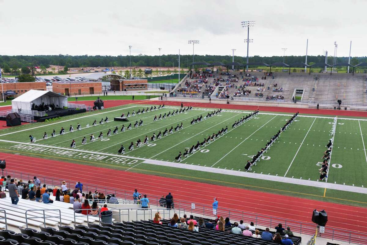 Quest Early College High School seniors graduated as the last of Humble ISD's ceremonies at 9 a.m. on July 25 on a grey, stormy morning at Turner Stadium where 94 of 97 graduates were able to walk the stage in person.In total, 2,900 seniors graduated this week from the district.