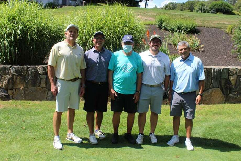 The team of Matt Andreana, Mike Andreana, Steve Geissler and Martin Occhino earned the top gross overall score at the Boys & Girls of Lower Naugatuck Valley golf tournament Aug. 24. Photo: Boys & Girls Club / Contributed Photo / Connecticut Post