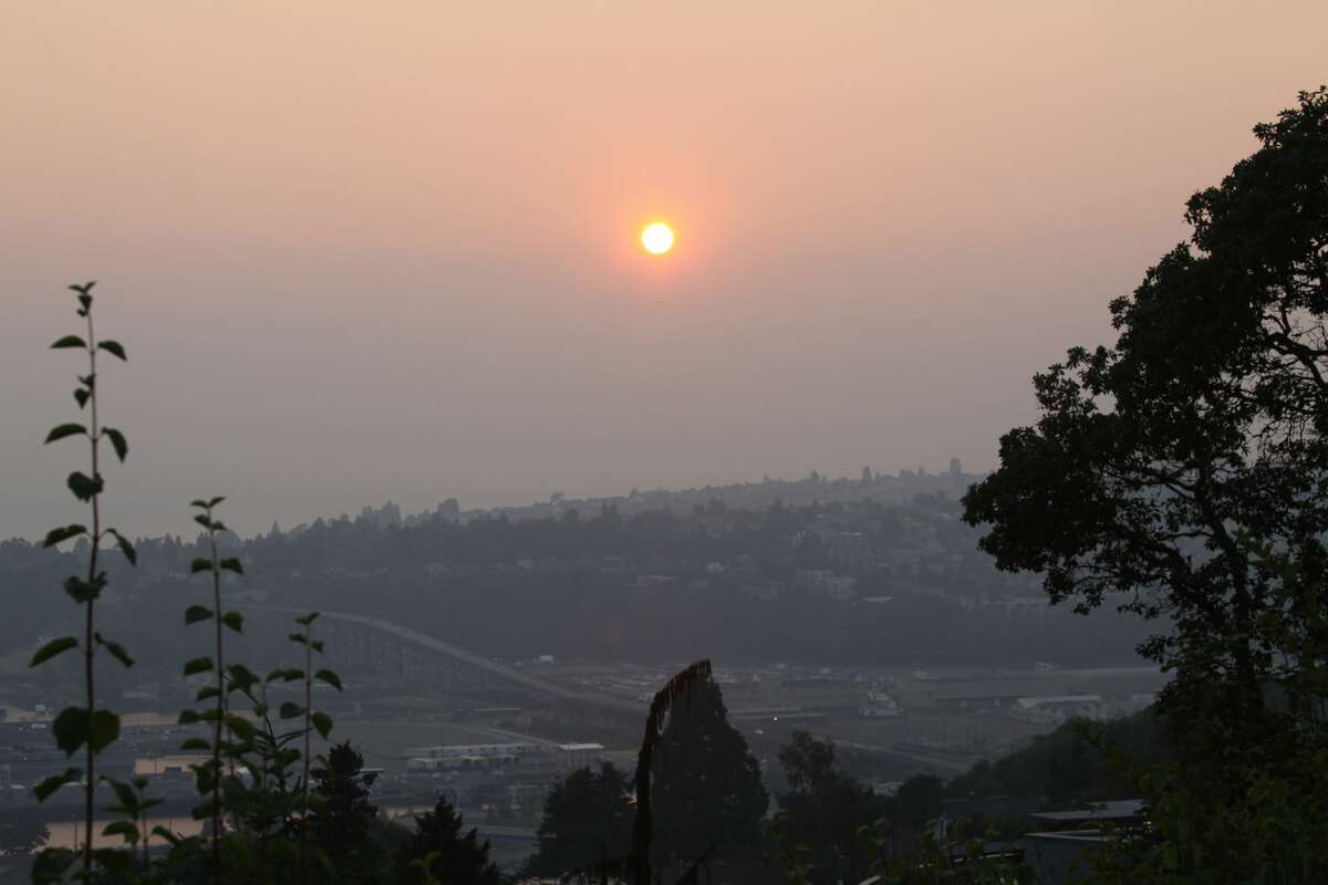 Smoke from the British Columbia wildfires has drifted all the way to Seattle, clouding the skies.