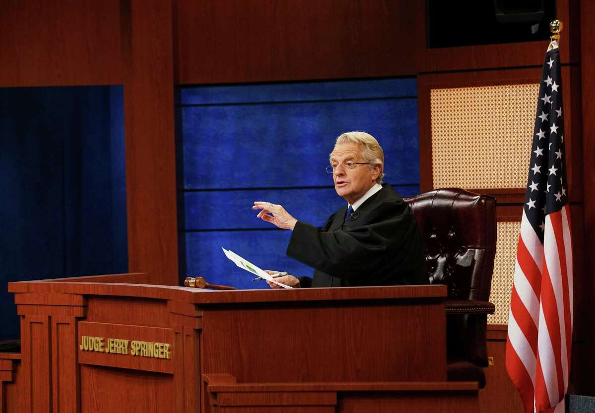 """Jerry Springer in a scene from """"Judge Jerry."""""""