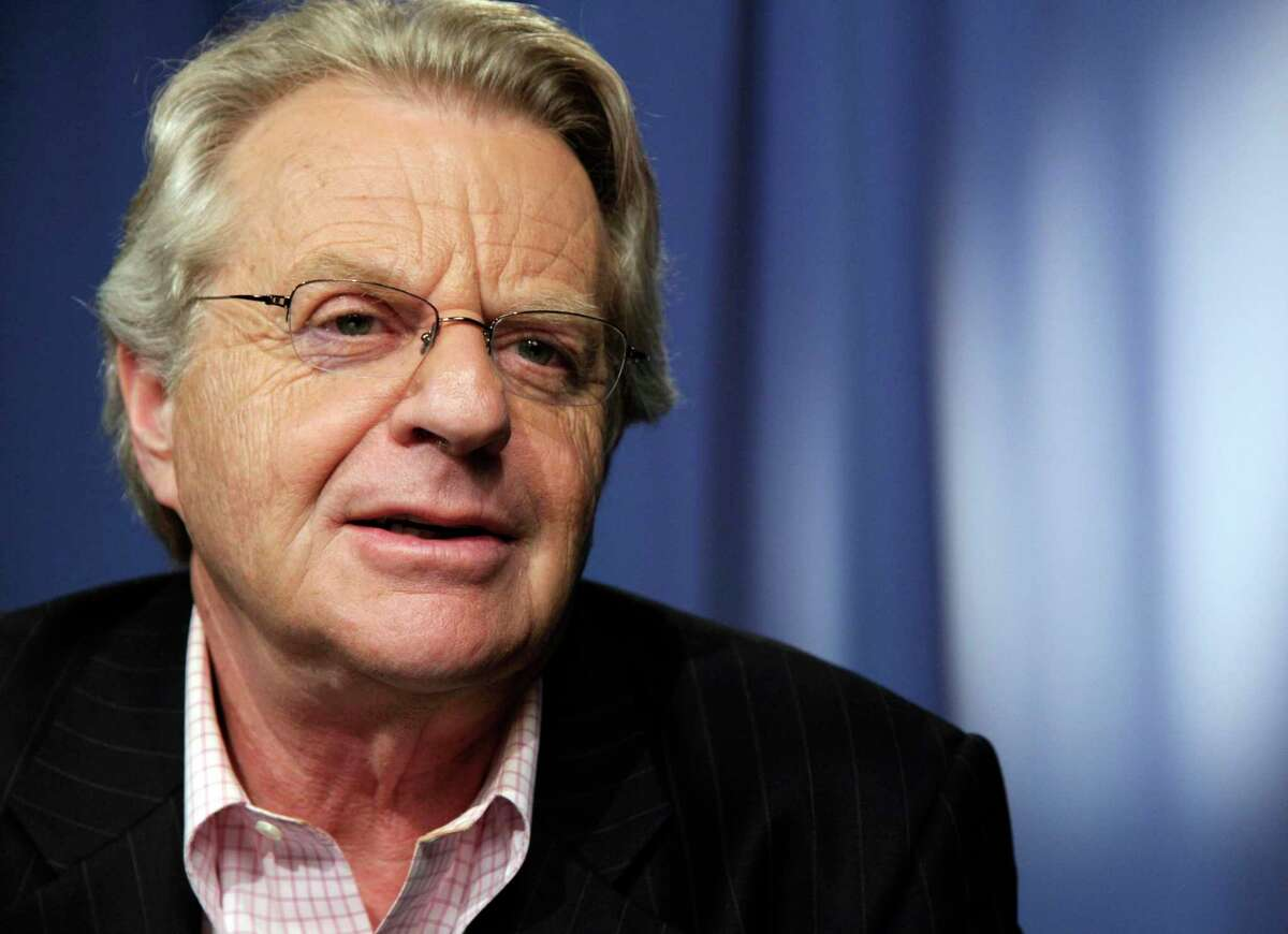 In this April 15, 2010, file photo, talk show host Jerry Springer speaks in New York.