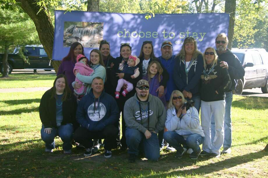 The local suicide prevention organization, Choose to Stay, hosted their annual remembrance walk, in honor of those who have died by suicide, at Northend Riverside Park on Sept. 19. Photo: Pioneer Photo/Cathie Crew