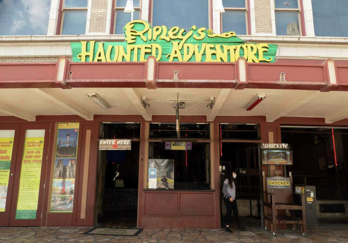 The Trevino House, which served as headquarters of Alamo commander William Barret Travis, was once located where at the modern location of Ripley's Haunted Adventure near The Alamo. It is shown on Thursday, Sept. 17, 2020.