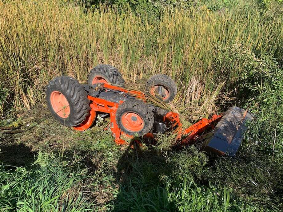 A 51-year-old man was airlifted after being injured in tractor accident. Photo: Sanilac County Sheriff's Office/Courtesy Photo