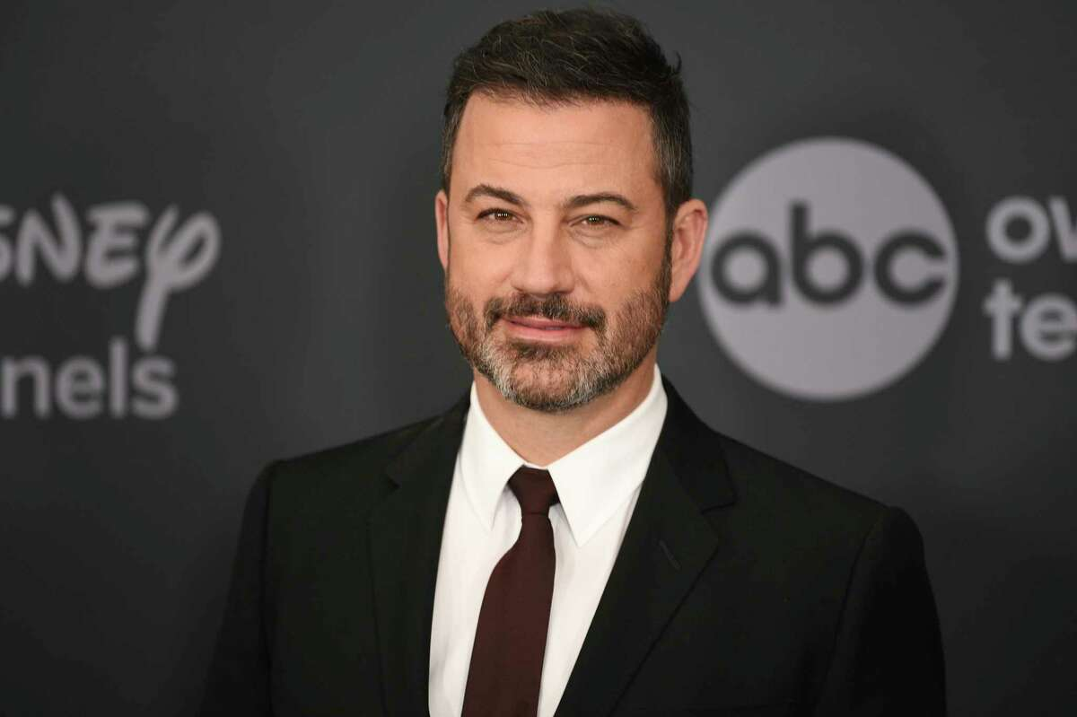 FILE - This May 14, 2019 file photo shows Jimmy Kimmel at the Walt Disney Television 2019 upfront in New York. Kimmel will host the 72nd Emmy Awards awards which will be conducted remotely and air on ABC. (Photo by Evan Agostini/Invision/AP, File)