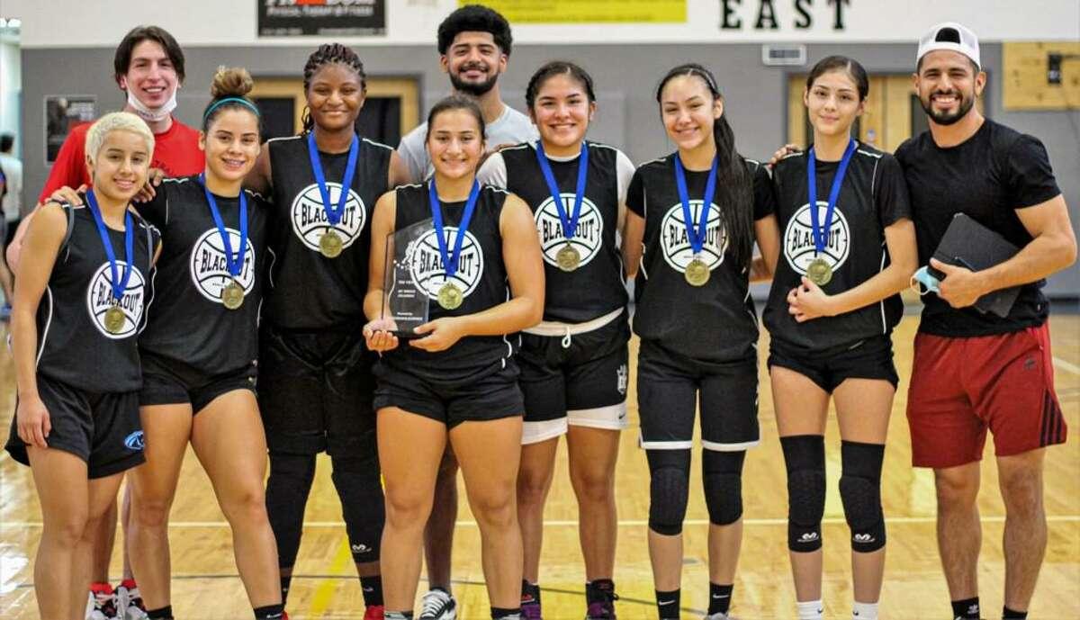 The Blackout girls' basketball team won the I-35 Showdon Tournament last week in San Antonio.
