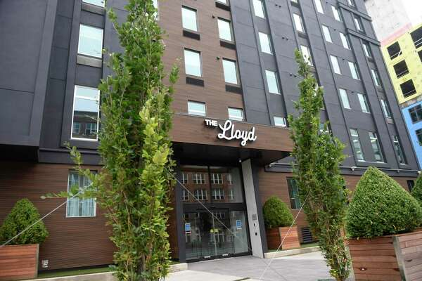 The Lloyd boutique hotel in Stamford, Conn., photographed on Thursday, Aug. 13, 2020. At the location of the former Hotel Zero Degrees, the Hilton-owned three-star boutique hotel sports a swanky vibe and upscale amenities.