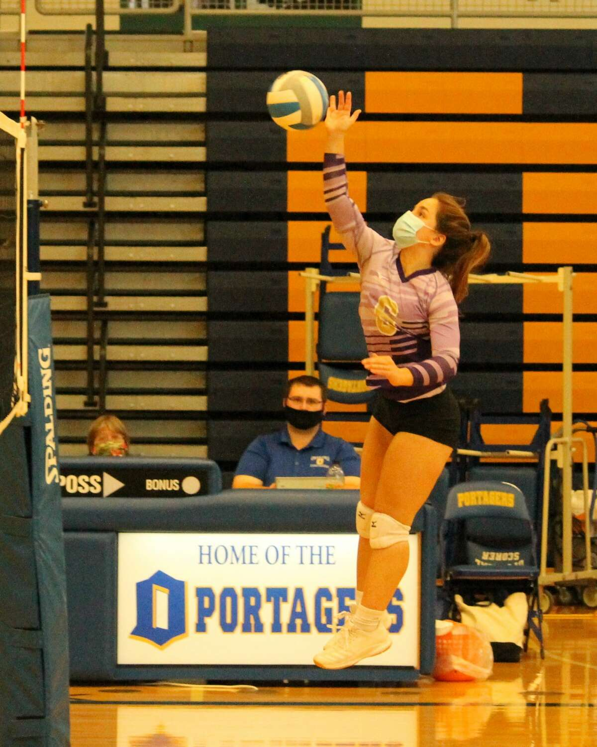 The Frankfort Panthers compete against Shelby during a tri-match at Onekama on Sept. 19.