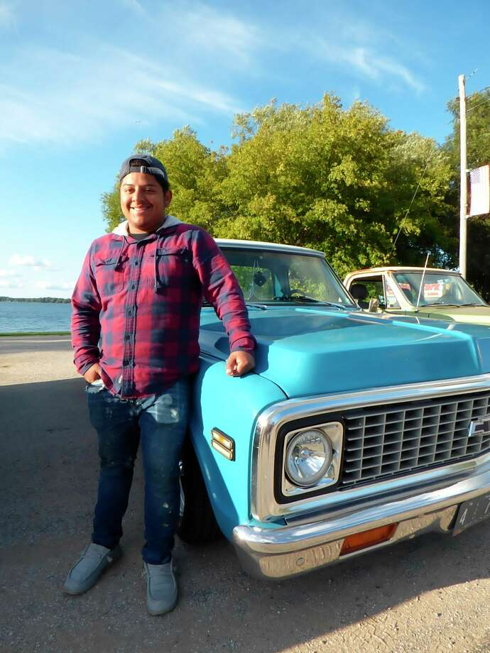 Nathan King brought his 1972 Chevrolet shop truck, Scarlet, to the inaugural Car Cruze in Bear Lake Saturday. (Scott Fraley/News Advocate)