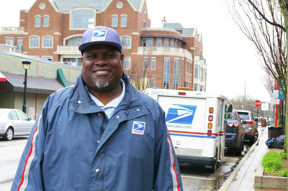 Charles Thomas has served with the U.S. Postal Service for 28 years. He mentioned the kindness of the people of Midland, especially during the pandemic, who have shared thank you notes and protective gear with him and his co-workers. (Photo by Niky House)