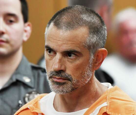 Fotis Dulos, 51, is arraigned on charges of tampering with or fabricating physical evidence and first-degree hindering prosecution at Norwalk Superior Court in Norwalk, Conn. Monday, June 3, 2019.
