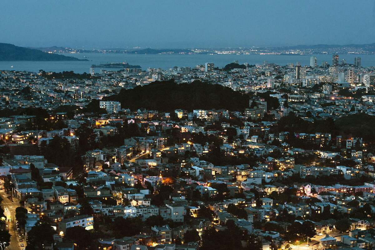 FILE - San Franciso at dusk, March 24, 2019. The same manufactured landscapes that have enabled California�s tremendous growth, building the state into a $3 trillion economy that is home to one in 10 Americans, have also left it more exposed to climate shocks, experts say. (Brandon Thibodeaux/The New York Times)