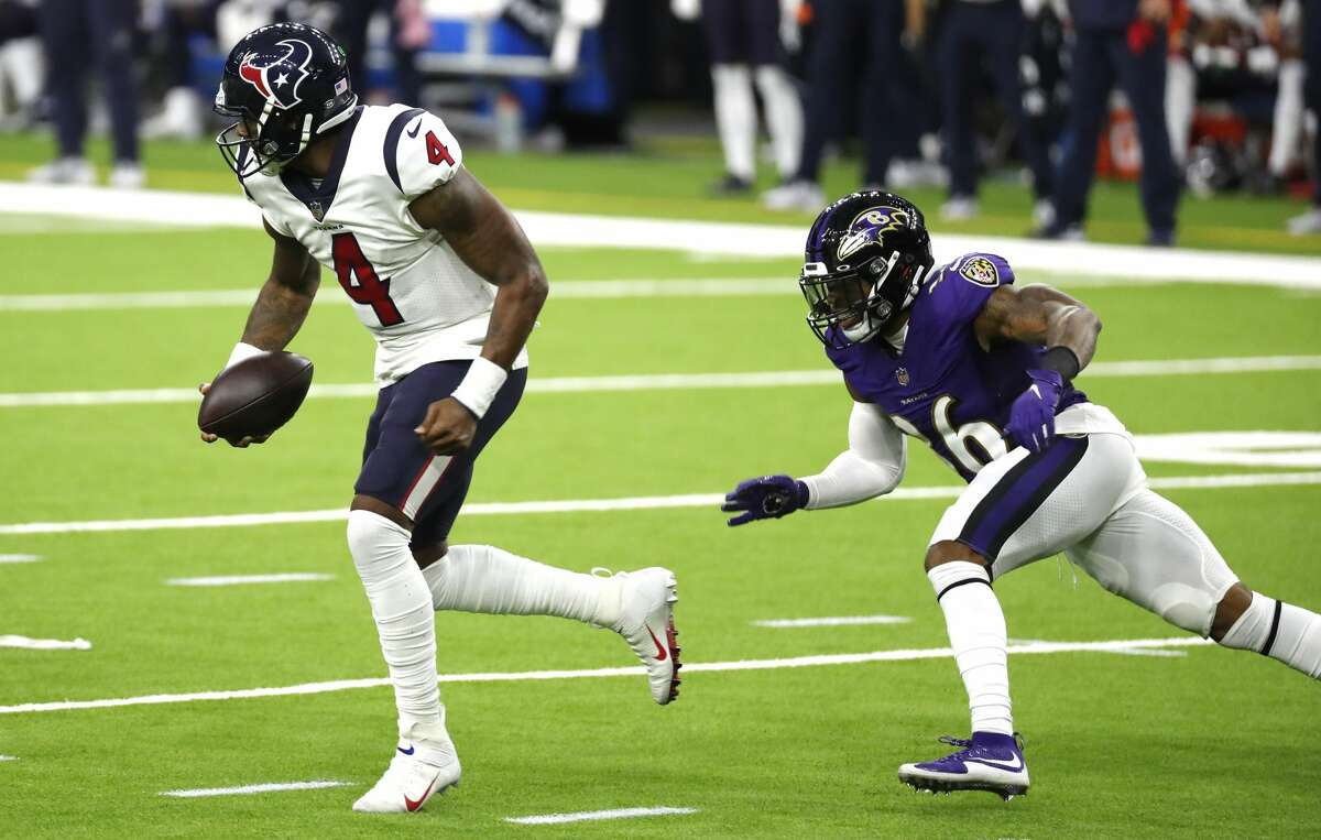 Calling some designed runs for QB Deshaun Watson may help revive a Texans running game that stalled in last week's loss to the Ravens.