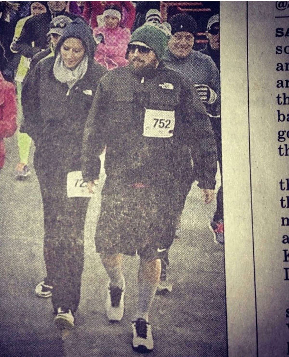 2. My husband, Nick and I made the front page of the sports section after walking (not running!) the Turkey Trot (there were far more deserving participants!).