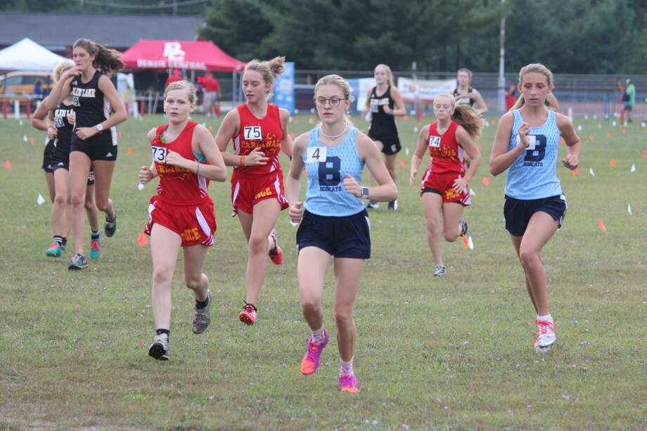 Brethren senior Alexis Tracy (pictured earlier this season) won her race on Saturday at the Ludington Cross Country Invite. Photo: News Advocate File Photo