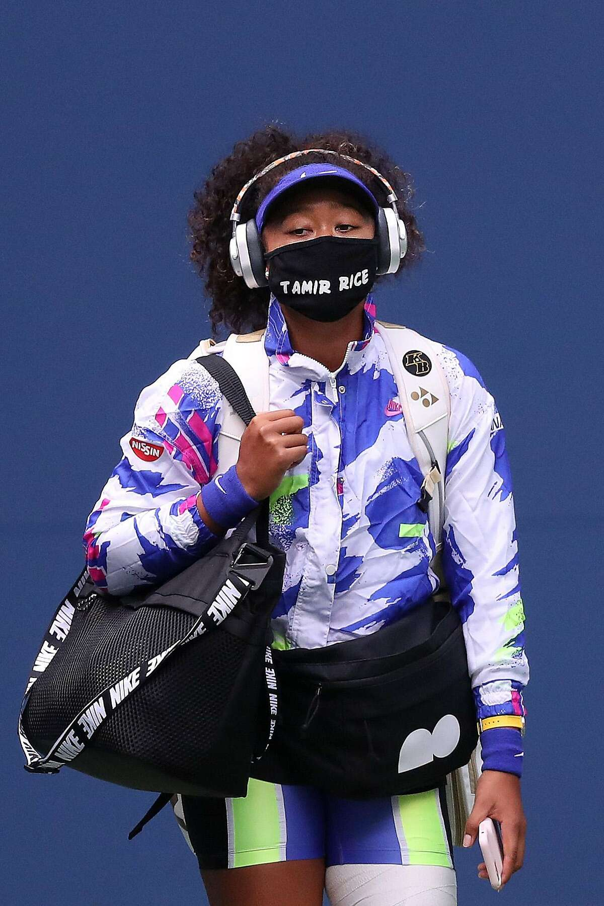 Naomi Osaka wore the names of Tamir Rice and six other victims of violence during the U.S. Open.