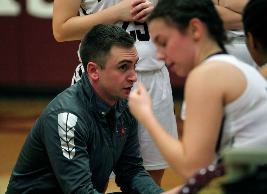 Justin Ketterer, seen in this January 2020 photo coaching the Cass City girls varsity basketball team, has taken the job of Red Hawks athletic director. (Tribune File Photo)