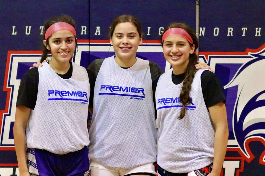 Mia Salinas, Evelyn Quiroz and Angie Lopez all competed at the Houston Individual Showcase this past Saturday. Photo: Clara Sandoval /Laredo Morning Times