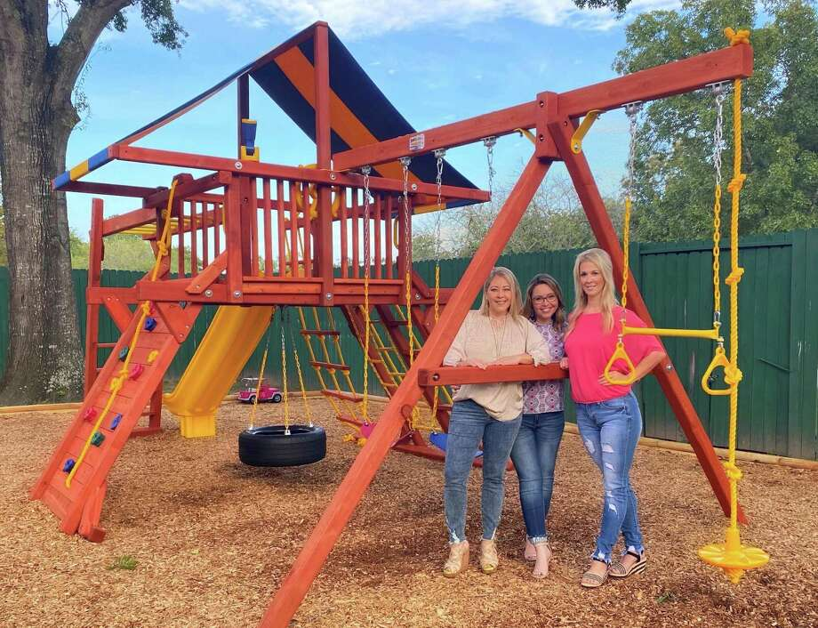 The nonprofit organization, Sisterhood, with the help of donors and volunteers, has gifted a new playground to nearly 25 foster girls living at The Treehouse Center in Conroe. Photo: Submitted Photo / Submitted Photo