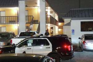 One man was hospitalized after getting stabbed during an argument over a woman at a Northeast Side apartment complex.