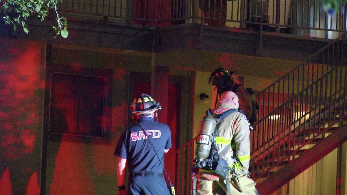 One man had to be rescued from his burning home after a cigarette sparked a fire at a Northeast Side apartment.