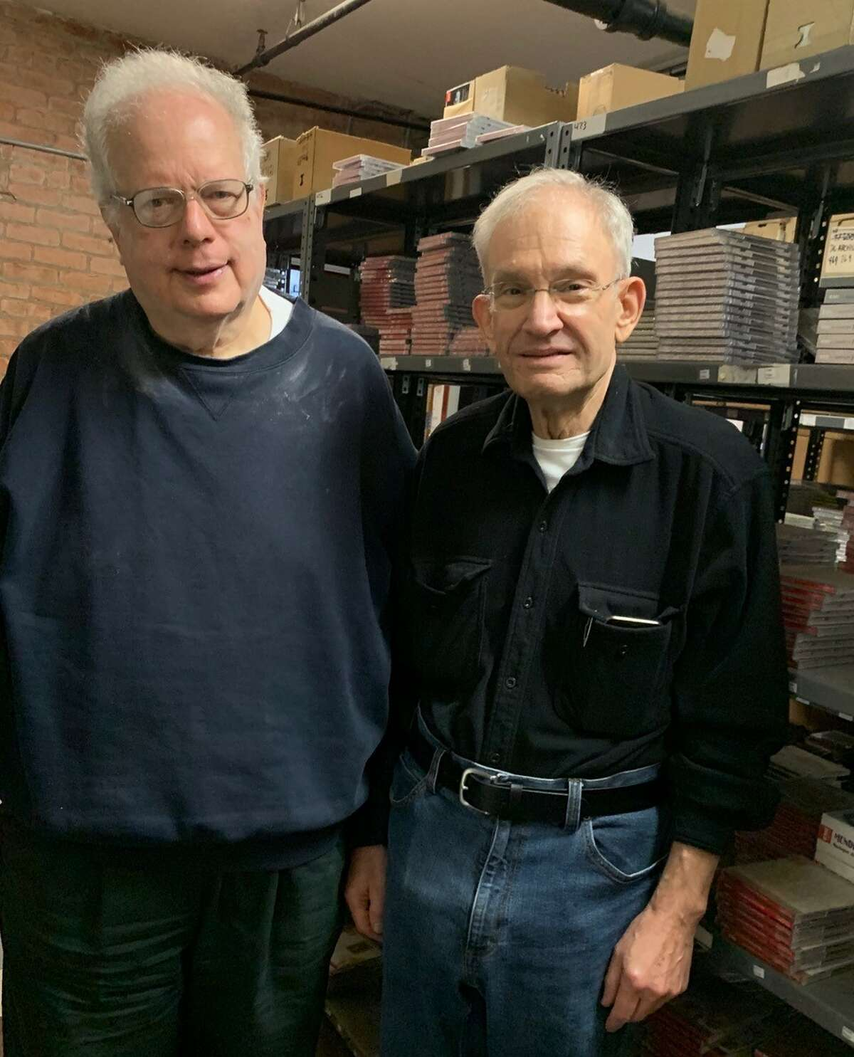 L-R Joe Eckstein of Berkshire Record Outlet and Peter Kermani of Albany Records