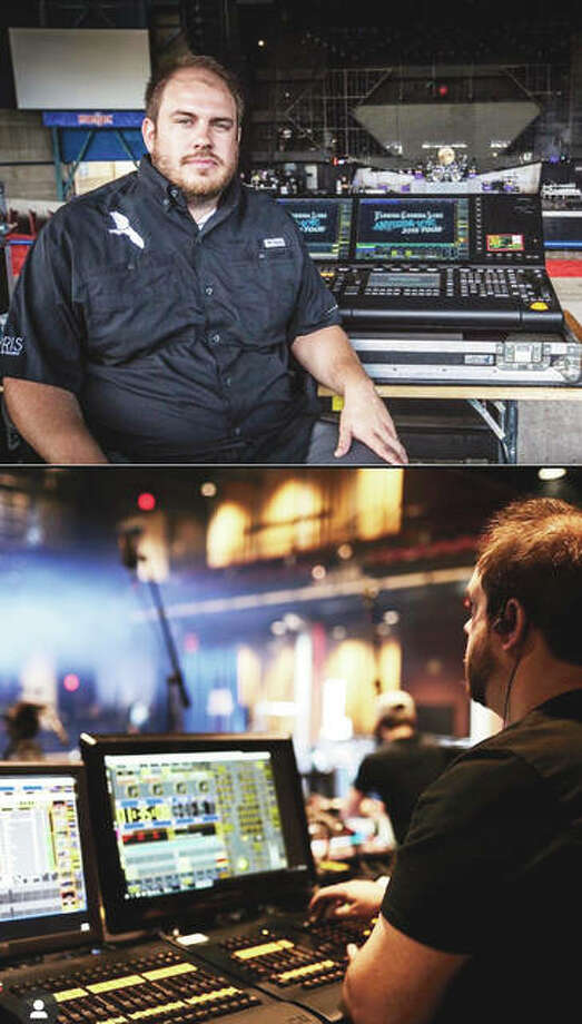 Carrollton native Scott Cunningham is the lighting director for the country music duo Florida Georgia Line, normally traveling with them to about 75 shows a year. He also works behind the scenes for other groups. Photo: Photos Provided