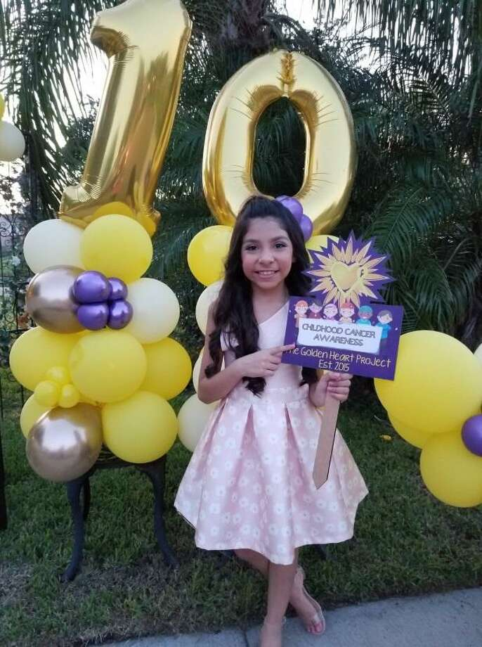 Miss Little Laredo Ana Regina Guerra requested donations for the Golden Heart Project in place of presents on her 10th birthday. Photo: Courtesy